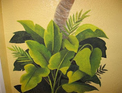 Palm Bathroom Mural 4