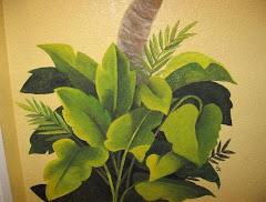 Palm Bathroom Mural 4