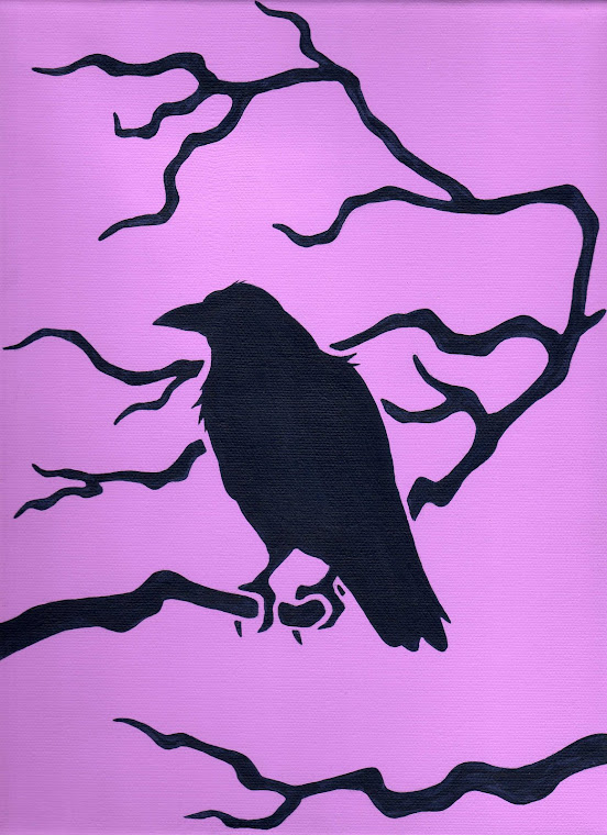 """Raven's Bough"" 9"" x 12"" Original Painting - SOLD"