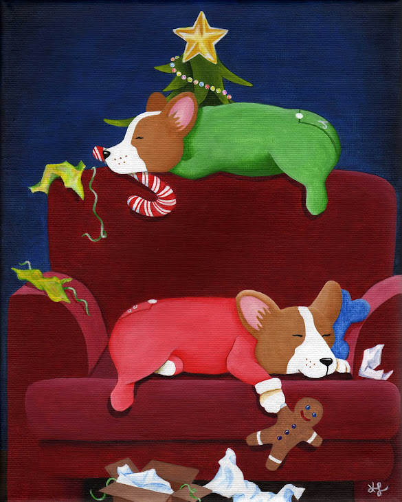 """All Tuckered Out"" painting - SOLD"