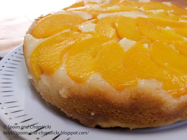 Spoon and Chopsticks: Upside Down Peach Cake
