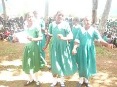 Monjale girls dancing for joy