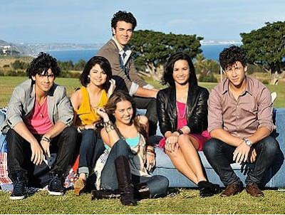 selena gomez and demi lovato and miley cyrus and jonas brothers. selena gomez and demi lovato