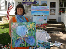 Noel Painting Iris at Victorian Summer Gallery Mackinac Island