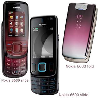 Nokia 6600 Fold, 6600 Slide