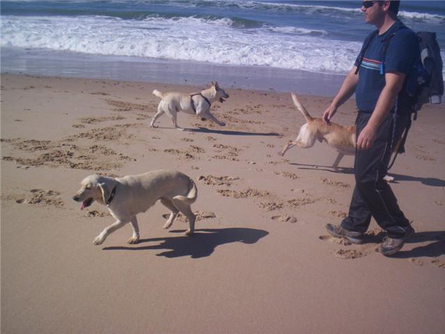 Gretel con su familia en la playa!!