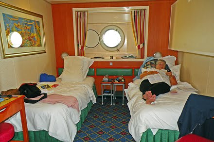 The Candid Cow Blog Days At Sea Part - Cruise ship staff quarters