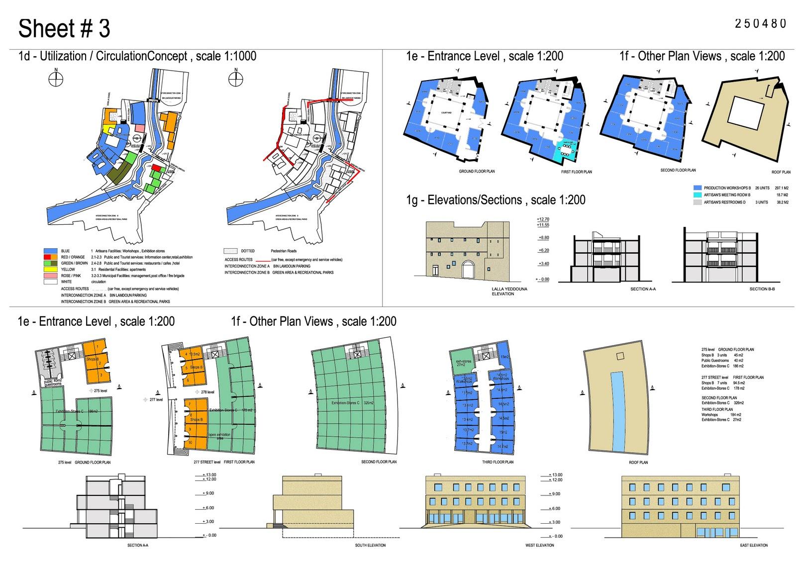 Architectural conceptual sheets for Architectural design concept sheet