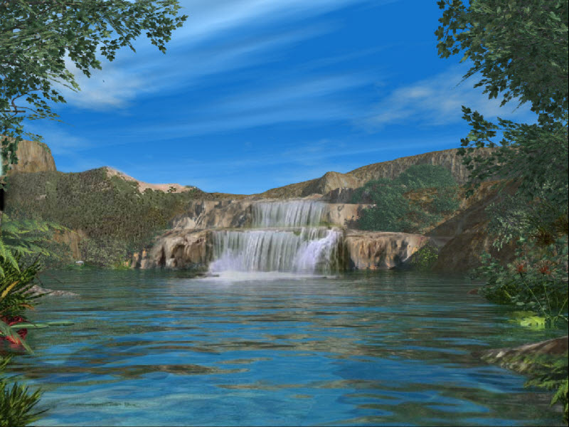 Открытка водопад с фотографиями