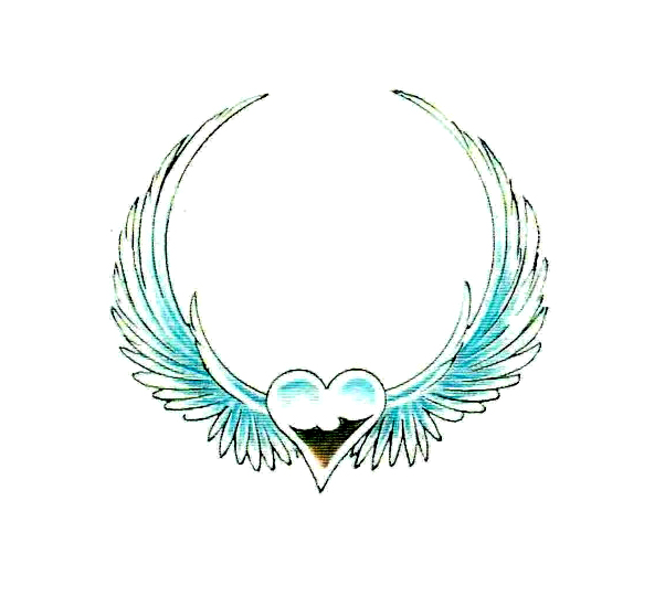 angel wings tattoo design. small angel wing tattoo. angel