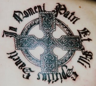 Cross Tattoo  Wings on Body Panting Celebrity  Tattoo Celtic Cross