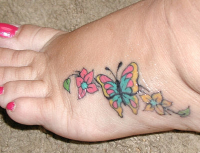 butterfly and flower tattoo. Butterfly