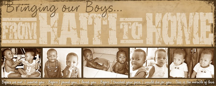 bringing our BOYS                                  ... from haiti to home