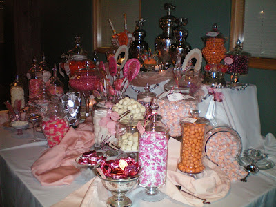 My Talented Mom and The Wedding Candy Buffet
