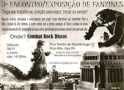 3º ENCONTRO DE ZINEIROS - COMBAT ROCK