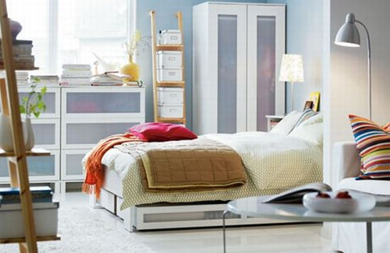 Modern bedroom storage ideas - Ikea small bedroom design ideas ...