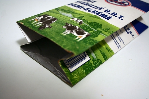 วิธีทำ กระเป๋า ทำกระเป๋าเงิน กระเป๋าตังค์ กล่องนม กล่องกระดาษ กล่อง กล่องน้ำผลไม้ ของใช้แล้ว ลดขยะ รีไซเคิล วัสดุเหลือใช้ ไอเดีย howto diy ลดโลกร้อน โลกสีเขียว โครงงาน กระดาษ กระดาษใช้แล้ว recycle reuse