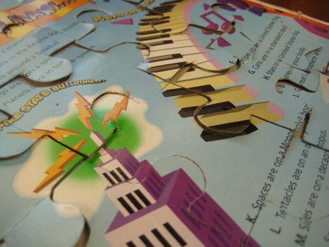 วิธีทำ จิ๊กซอว์ ตัวต่อภาพ jigsaw  กล่องกระดาษ กล่องซีเรียล กล่องอาหารเช้า เด็กเล่น ของเล่น ทำของเล่น บรรจุภัณฑ์ ของใช้แล้ว ลดขยะ รีไซเคิล วัสดุเหลือใช้ ไอเดีย how to diy ลดโลกร้อน โลกสีเขียว โครงงาน กระดาษ กระดาษใช้แล้ว recycle reuse