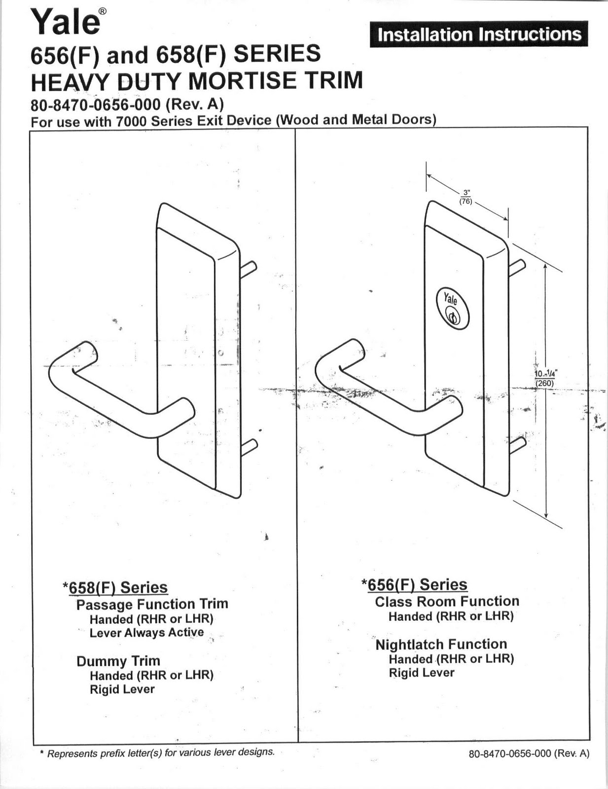 656 doors, locks & frames yale 7130f 656f yale 7000 series wiring diagram at crackthecode.co