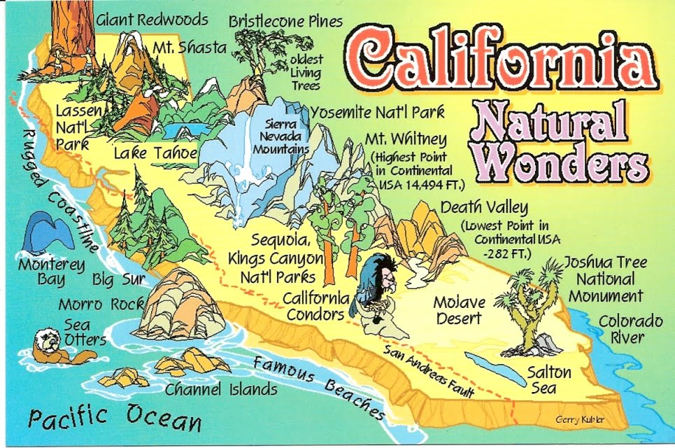Top tourist attractions in northern california – Tourist Attractions Map In California