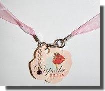 Bijuteria  Colar organza rosa