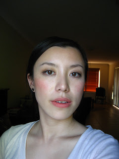 BECCA Beach Tint in Peach applied on cheeks and lips
