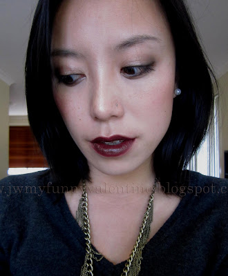 Chanel Rouge Coco rouge noir swatch, MAC Burgundy lip liner swatch