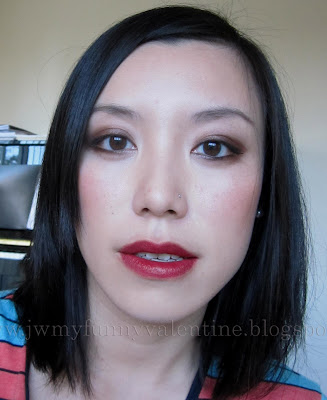 FOTD wearing OCC Lip Tar in Vintage