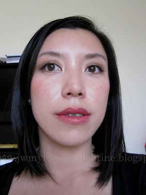full face wearing 'Vint-Lange' on lips
