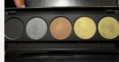 Inglot 5 pan eye shadow palette AMC Shadow 63, Pearl 451, Pearl 421, Shine 49, Pearl 433