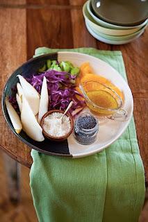 Итальянский салат из груши и апельсина