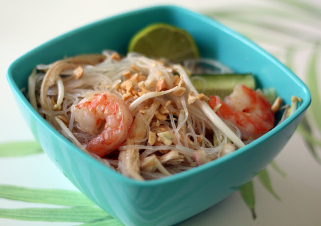 ... recipes by Rachel Rappaport: Thai Noodle Salad with Turkey and Shrimp