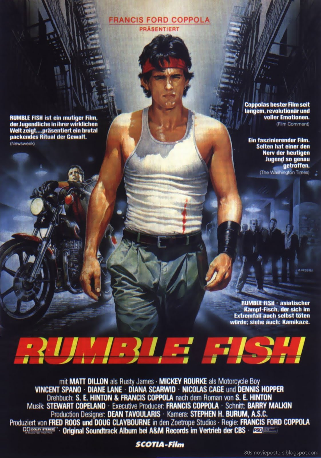 80s movie posters filmplakate der 80er rumble fish 1983