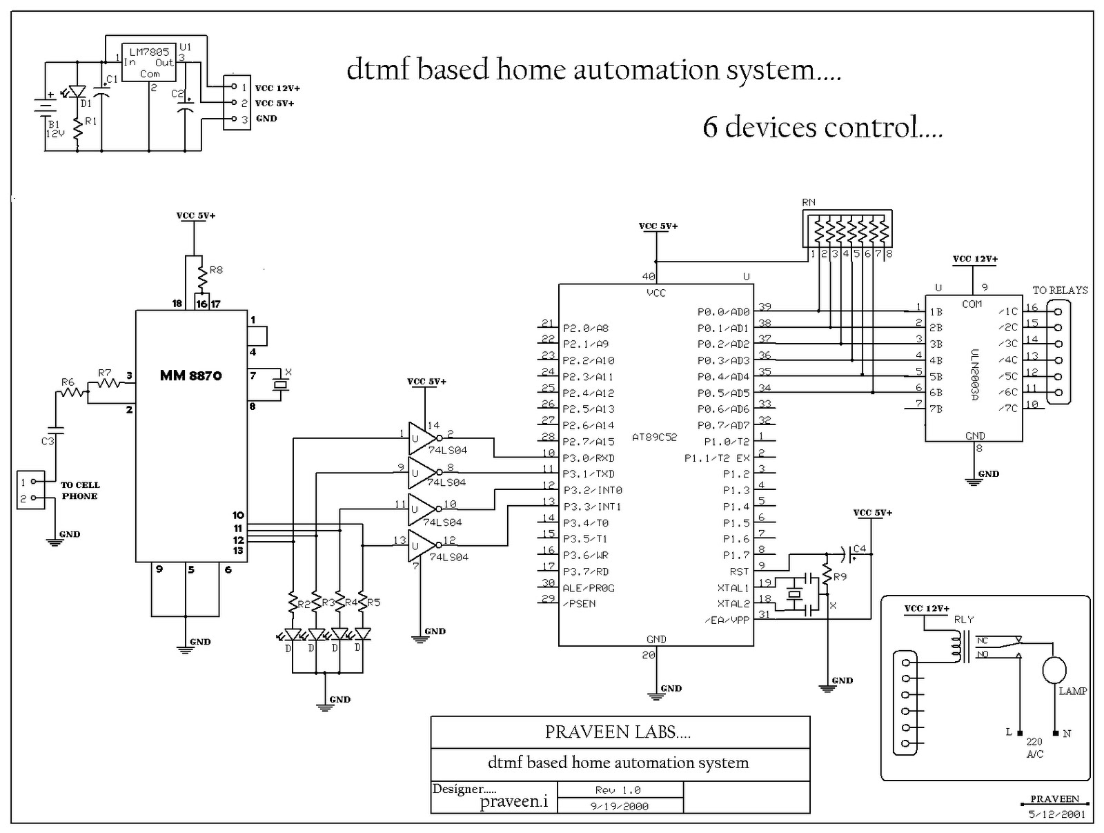electrical and electronics  dtmf based home automation 6