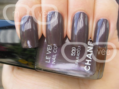Chanel purple taupe nail polish