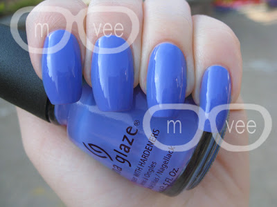 China Glaze Secret Peri-wink-le swatch