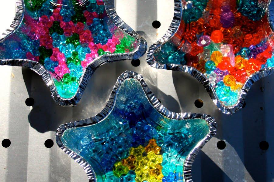 one crafty melted bead suncatcher tutorial