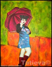 Autoportrait au parapluie