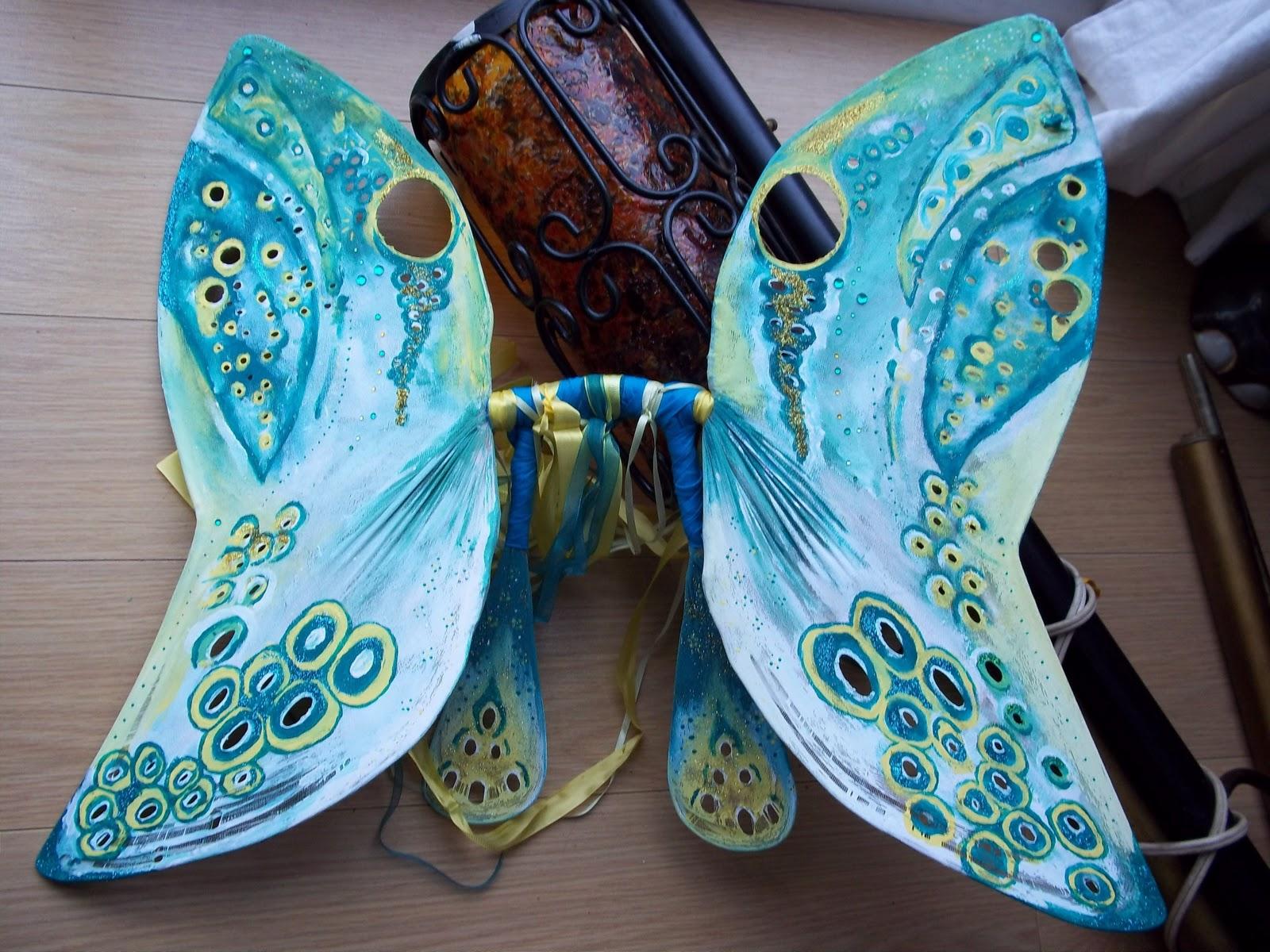 Как сделать крылья для бабочки своими руками