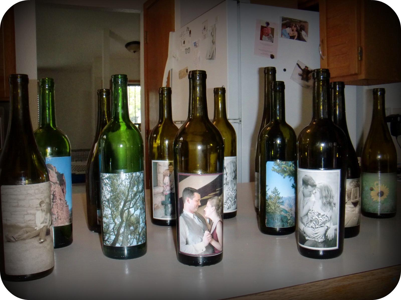 frugal with a flourish reader project wedding centerpiece wine bottles. Black Bedroom Furniture Sets. Home Design Ideas