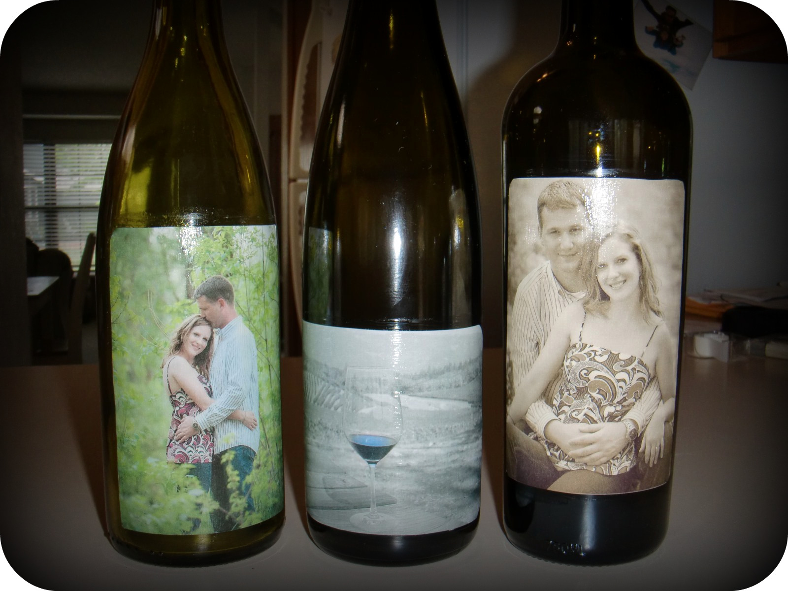Frugal with a flourish reader project wedding Wine bottle wedding centerpieces