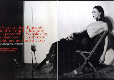 August 2010 Italian Vogue editorial: Mariacarla Boscono, ph: Glen Luchford, stylist: Ana Steiner