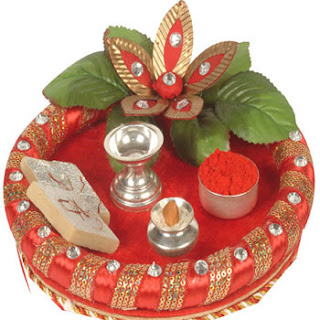 Step by step guide to diwali puja how to do diwali puja for Aarti thali decoration with grains