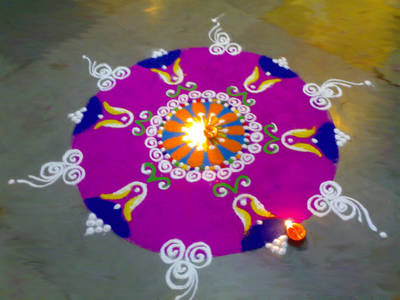 Colorful Rangoli Designs Flower Patterns Festival Rangoli