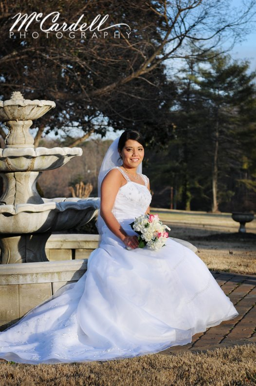 Greensboro bridal portraits