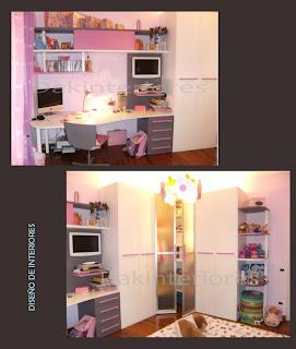 Dak dise o de interiores dormitorio de ni a for Diseno de muebles para dormitorio de nina