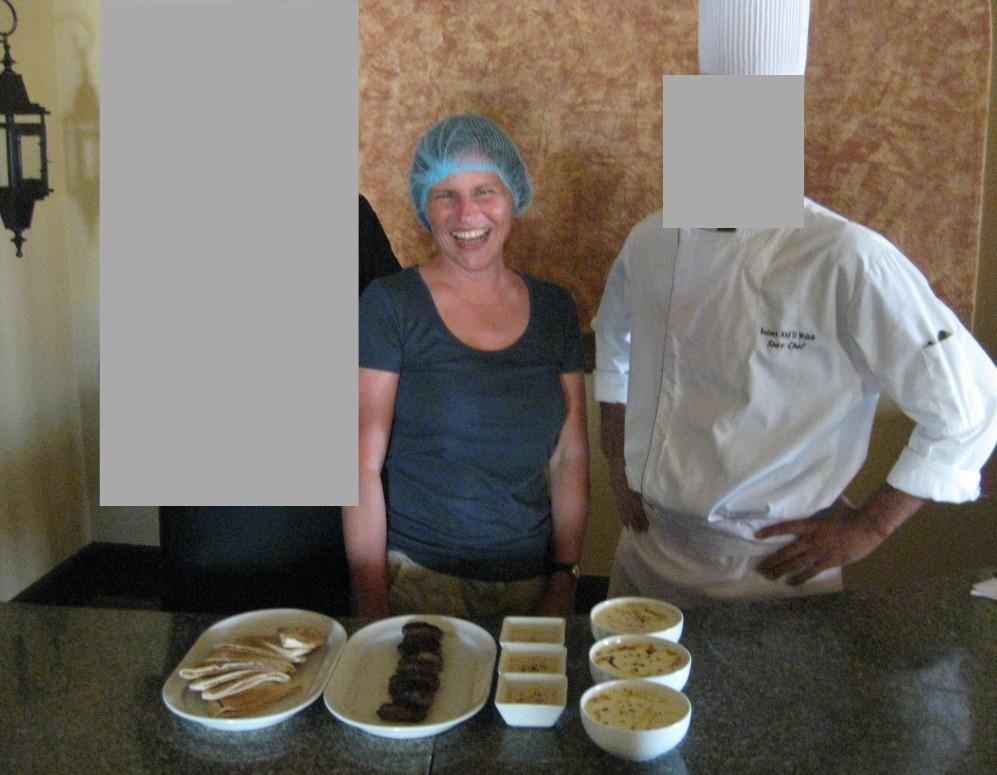Ich beim Kochkurs in Ägypten