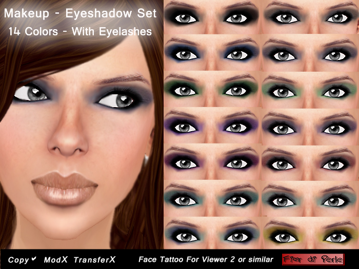Fior di perle skins shapes fior di perle eyeshadow set for Face tattoo makeup