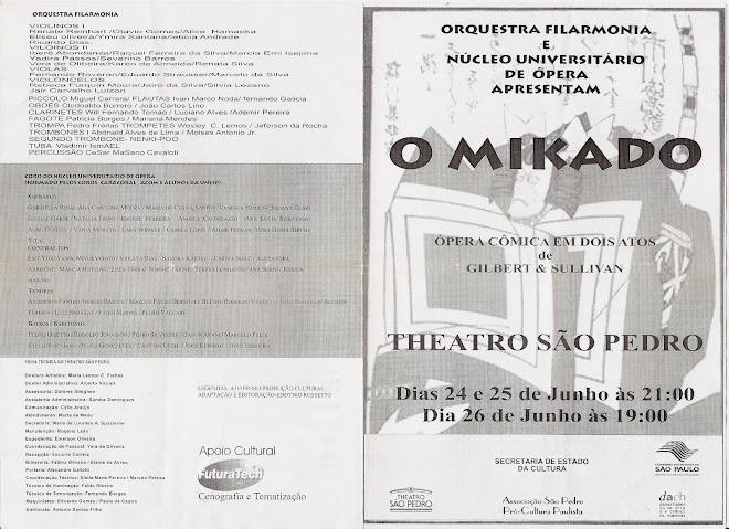 Cantor na Ópera MIKADO - Tenor coro