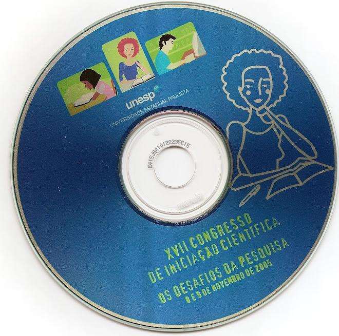 Publicação Inserida em CD ROM - XVII Congresso de Iniciação Científica da UNESP